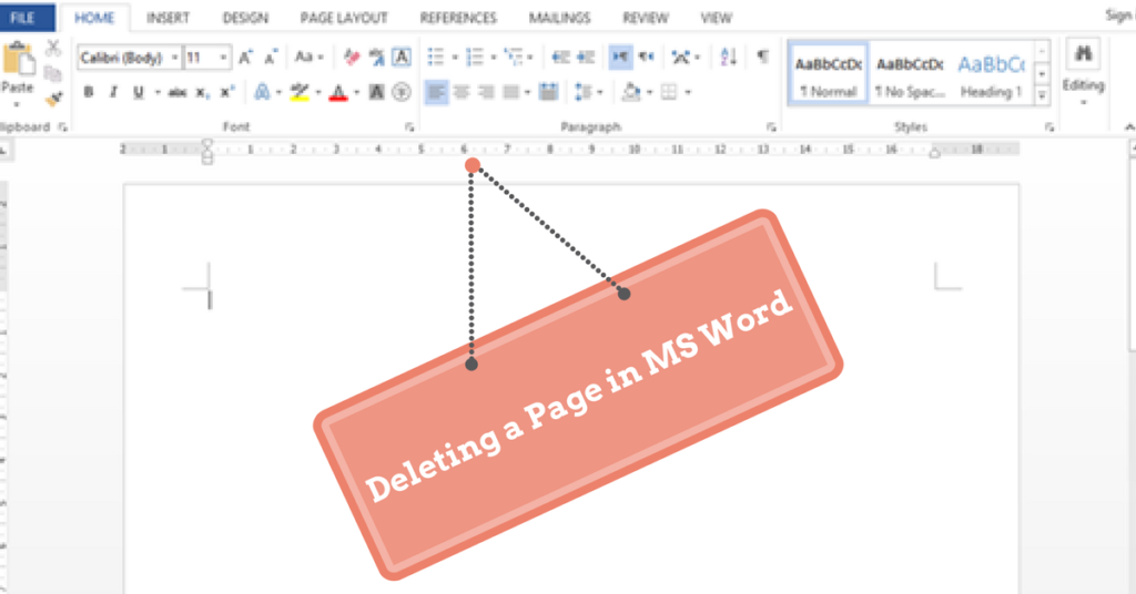 how to delete the blank page in word